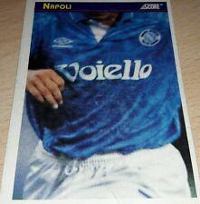 CARD SCORE 1993 NAPOLI MAGLIA CALCIO FOOTBALL SOCCER ALBUM