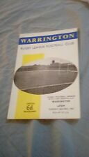 Warrington v Leigh 1967 Programme