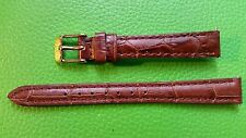 BRACELET MONTRE  /// watch bands /    marron cuir vachette    / ref: jr242