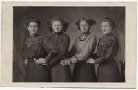 MA9319 RPPC FOUR WOMEN OR TWO GIRLS WITH TWO WOMEN FROM MAY HEATH 1911