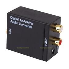 Digital Optical Koaxial Toslink Analog  Audio Cinch RCA L / R Konverter Adapter