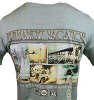 "Men's T-shirt -""No Hurries, no worries"" Permanent Vacation -Island Shores -Beach"