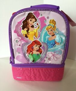 NWT Thermos Dual Compartment Insulated Lunch Kit Disney Princess Belle Ariel