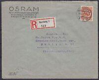DR Mi Nr. 342 EF Firmen R- Brief Hamurg - Berlin 24.06.1926 mit OSRAM Vignette