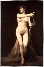 Photo Albuminé Marconi Femme Nue Nude Curiosa Vers 1870