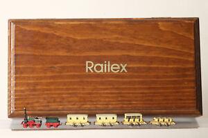 "Railex Z Gauge 150 Years German Railway "" Der Eagle "" With 4 Wagon Boxed"