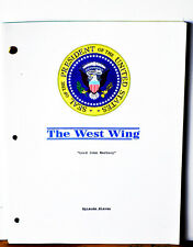 """Production Shooting TV Script """"THE WEST WING"""" Used During Principle Photography"""