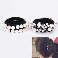 Mode strass cristal perle cheveux bande corde élastique porte-queue de ch_ft