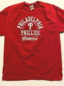 Philadelphia Phillies Budweiser Baseball Short Sleeve MLB Fan T-Shirt Men's XL