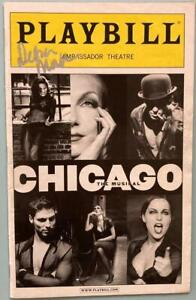 Debra Monk Signed (Only) Signed Chicago Playbill  Charlotte d'Amboise Huey Lewis