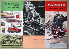 MäRKLIN 1966 H0 Prospekt Flugblatt Deutschland D DM / Train Flyer Marklin