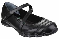 Skechers Sk99999849 Bikers Black Satin Shine School Girls Kids Shoe Size 3-8 UK 6
