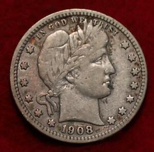 1908-S San Francisco Mint Silver Barber Quarter