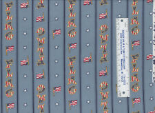 Weilwood Country Homespun Collection Old Glory Flag Stripes Stars Cotton Fabric