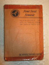 "Vintage 1947 ""Home Sweet Homicide Craig Rice Dramatized by Ann Reynolds Playbook"