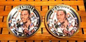 Shaquille O'Neal~Two 1992 4 inch sports impressions mini plates.Orlando Magic.
