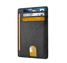 Slim Minimalist Credit Card Holder Front Pocket RFID Blocking Leather Wallets