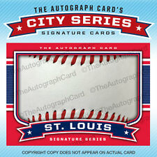 The Autograph Card Blank Signature cards BASEBALL for St. Louis Cardinals Auto