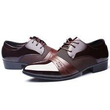 Herren Business Hochzeit Anzug Spitze Leder Schnür Schuhe Halbschuhe Mode 38-48