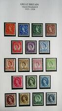 1267-20 Great Britain Qe Ii 18 Unused Hinged Vintage Stamps 1955-1958 Issue