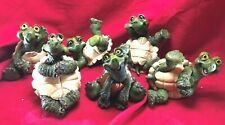 Whimsical and Playful Garden Turtle Figurines