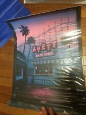 The Avett Brothers Poster San Diego 2019 Moegly Pink Variant AP /20 Signed MINT