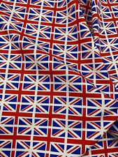 British Flag Union Jack Flag Printed 100% Cotton Poplin Fabric.