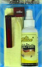 Guitar Polish 100ml Alice Kit w/ Micro Fiber cloth & Plastic String Winder New