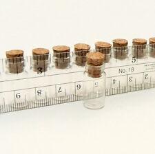 10 Mini Glass Bottles w/ Cork (miniature/bottle/vial/vials/wish/charm/bottle)
