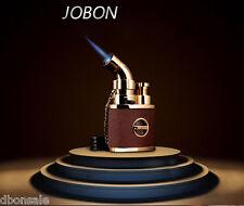 Gold Jobon Torch Flame Cigarette Lighter Jet Butane Gas Cigar Lighter With Lock