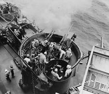 WW2 Photo WWII US Navy Battleship West Virgina AA Guns 1944  World War Two/ 7140