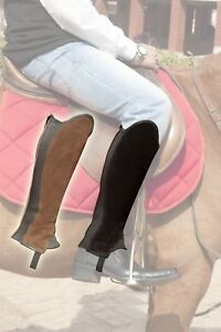 Reversible Black,Brown Synthetic Gaiters / Half Chaps