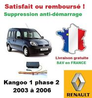 Boitier antidémarrage Supprime l'anti-demarrage des Renault Kangoo 1 phase 2