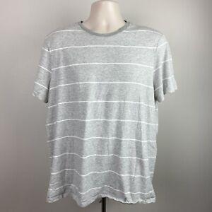 Banana Republic Mens Soft Wash T XL Gray Stripe Shirt