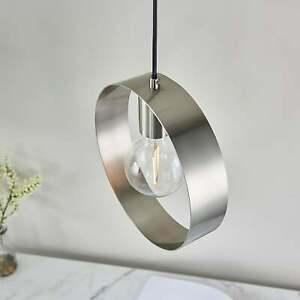 Endon Lighting Hoop Pendant Light in Brushed Nickel