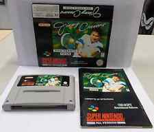 Console Game Gioco SUPER NINTENDO SNES 16 BIT PAL JIMMY CONNORS PRO TENNIS TOUR