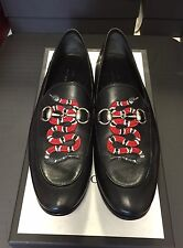 Gucci Leather Loafers Men's With Snake Size 8 UK/9 US $750