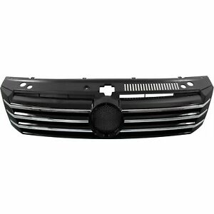 Front Grille With 6 Chrome Molding Strips fits 2012 2015 Volkswagen Passat