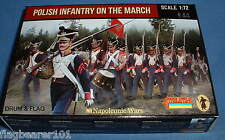 STRELETS SET 142. POLISH INFANTRY ON THE MARCH. NAPOLEONIC. 1/72 SCALE.