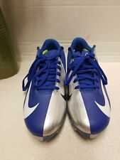 Nike Vapor Elite Hyperfuse Blue White Silver Football Cleats Shoes, Mens Size 9
