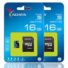 ADATA 85MB/s 16GB microSDHC micro SD SDHC Card Class 10 Phantom 3 GoPro Lot of 2
