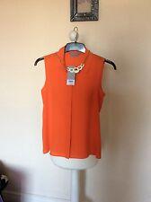 orange top size 6 petite brand new Dorothy perkins