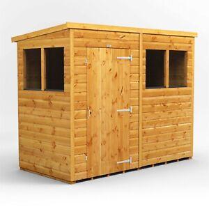 Power Pent Garden Shed | Power Sheds | Wood Shiplap T&G | Sizes 6x6, 8x4, 8x6