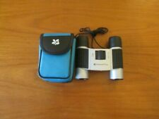 National Trust 8x12 silver/black rubber binoculars with blue case