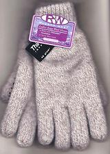 Rugged Wear Women's Beige Ragg Wool Knit Winter Wrist Glove, 40g Thinsulate S/M