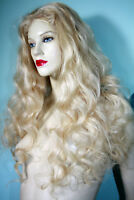 Front Lace Wig Wigs Remi Remy Indian Human Hair Wavy Body Wave Blonde Color 60