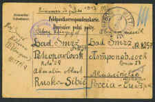 Austria 1917 W.W.I P.O.W. Card From Austria To Siberia