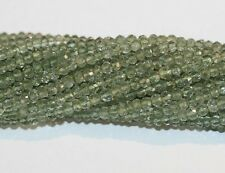 "AAA 14"" St Green  Amethyst Faceted Rondelle   Beads 3.5mm Top Quality"
