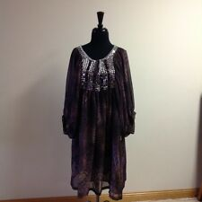 ARGENTI  Dress Or Blouse Very Beautiful Beaded Snake Print Size 10