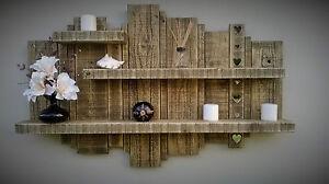Wooden shelf display unit rustic reclaimed shelves light medium dark oak walnut